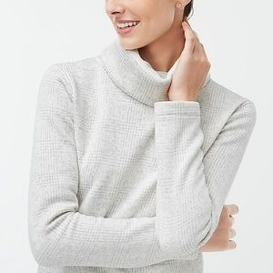 J. Crew Fleece Funnel Neck Sweater Pullover M